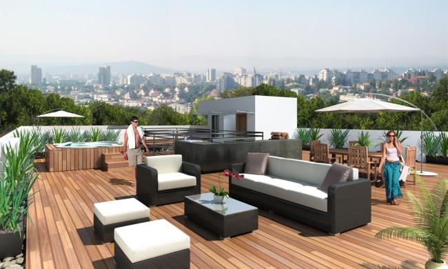 Roof garden renders 3d 650x390 planta ox geno espacios for Render casa minimalista