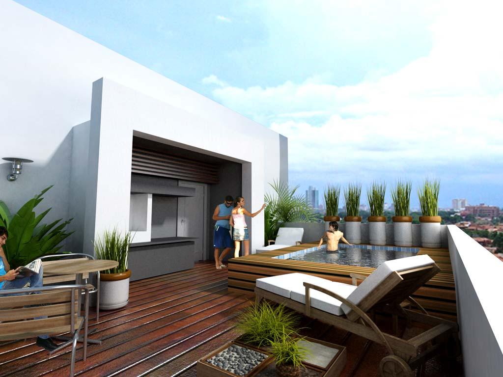 Roof Garden Moderno
