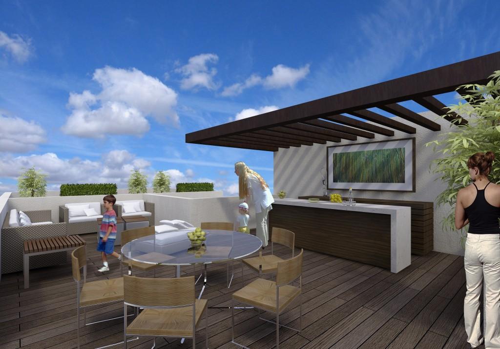 Azotea verde 9 planta ox geno espacios con vida for Toldos para terrazas en azoteas
